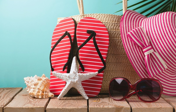 Picture beach, summer, stay, hat, glasses, summer, beach, vacation, sun, sand, slates, vacation, starfish, accessories