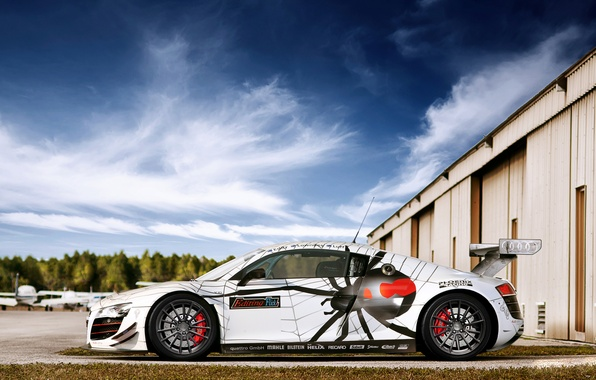 Picture spider, spoiler, Audi R8, Race, drives, photography, tuning, Spider, Nikita Nike, srortcar