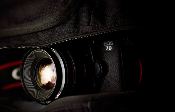 Picture The camera, bag, Lens, macro, 2560x1600, canon eos 7d, Photocamera, bag, lens