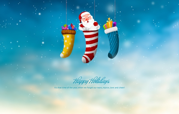 Picture holiday, new year, Christmas, gifts, new year, Santa Claus, merry christmas, happy hollidays, Christmas sock