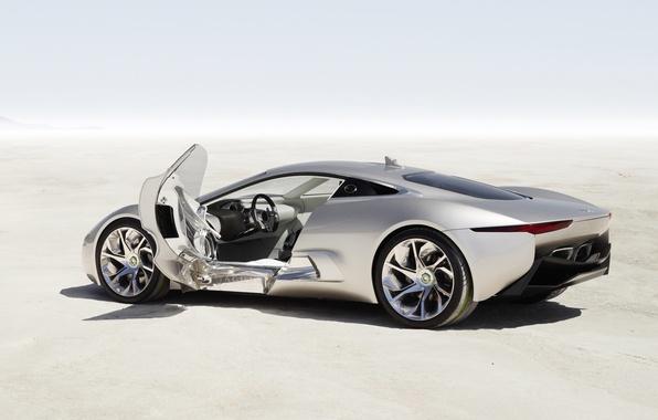 Picture machine, Concept, Jaguar, the door, silver, C-X75