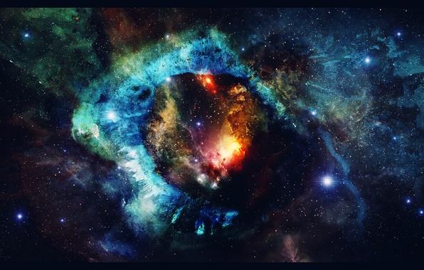 Picture space, stars, nebula, art, space, universe, nebula, art, stars
