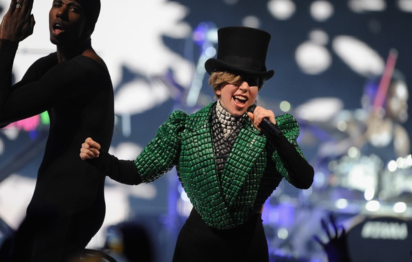 Picture girl, style, music, green, music, actress, singer, celebrity, hat, singer, London, Lady Gaga, pop, Lady …