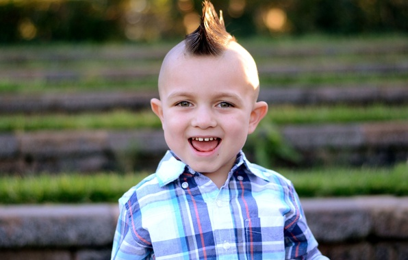 Picture smile, hair, child, teeth, boy, baby, hairstyle, ears, Mohawk