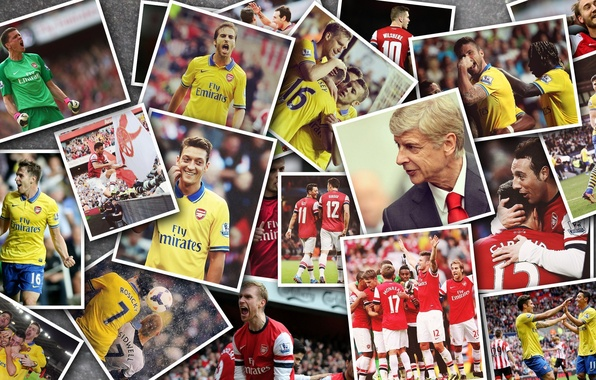 Picture football, Arsenal, Mesut Ozil, Arsene Wenger, football club, Jack Wilshere, Santi Cazorla, Aaron Ramsey, Olivier …