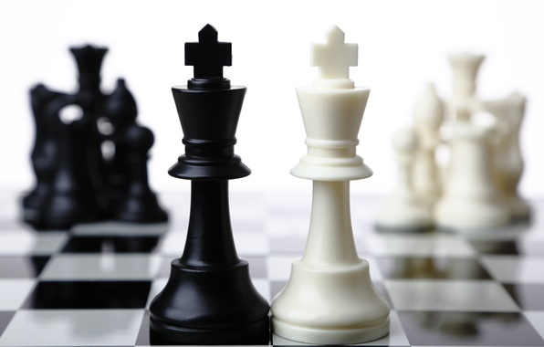 Picture white, black, chess, king