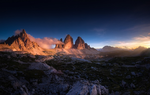 Picture landscape, sunset, mountains, nature