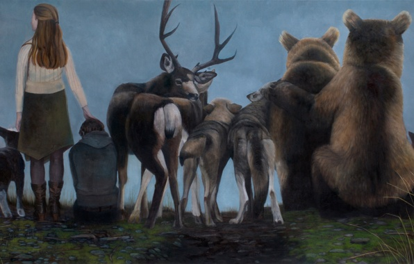 Picture picture, Norwegian artist, Christer Karlstad, Spectators