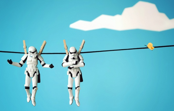 Picture macro, toys, the situation, war, figures, star, rope, characters, LEGO, underwear, Clothespins