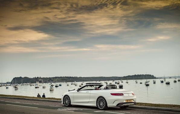 Picture Wallpaper, Mercedes-Benz, wallpaper, white, car, Mercedes, sky, auto, Cabriolet, S 500, AMG line