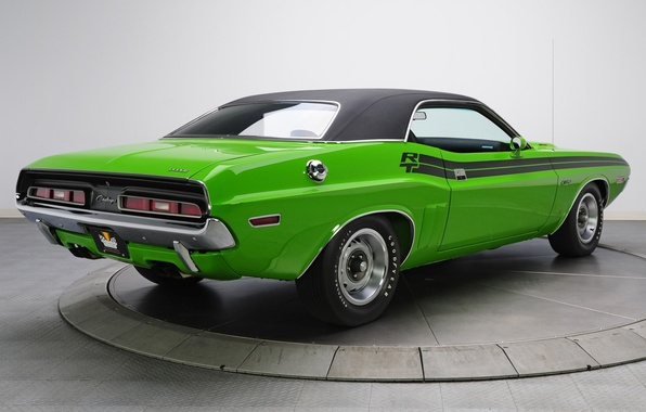 Picture background, Dodge, 1971, green, Dodge, Challenger, classic, rear view, Muscle car, Magnum, Muscle car, R/T, …