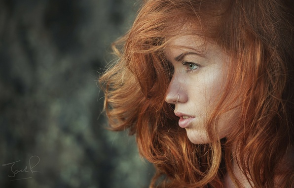 Picture girl, face, model, hair, profile, red, girl, photographer, model, Jack Russell, Jenny O'sullivan