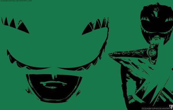 Photo wallpaper Power Rangers, Dragonzord, Dragon Dagger, Green Ranger