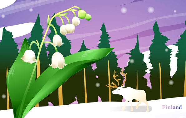 Picture landscape, travel, deer, tourism, lilies of the valley, country, Finland, Finland, the state