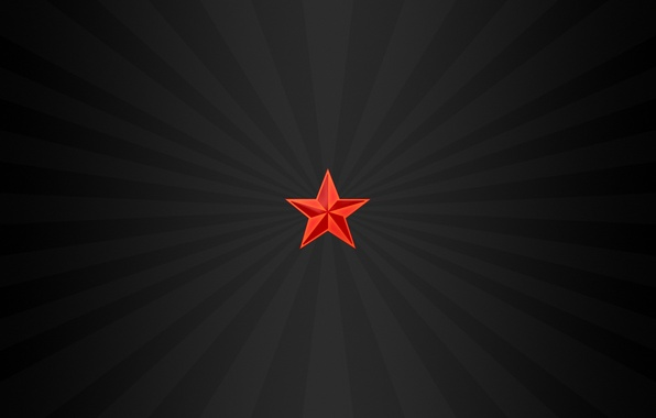 Picture Minimalism, Star, Red