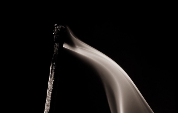 Picture black, smoke, match