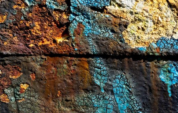 Picture dirt, bricks, pattern, strange colors