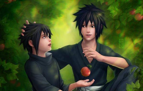Picture apples, guys, naruto, zetsuai89, Madara, Izuna