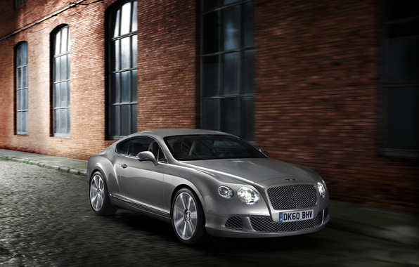 Picture Auto, Bentley, Continental, Grey, The building, The front