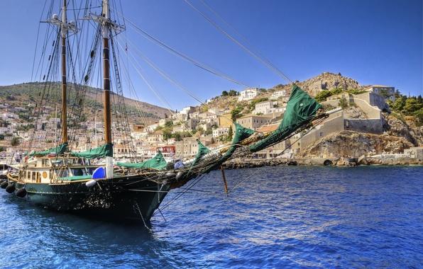 Picture sea, nature, sailboat, Greece, the ship, Greece