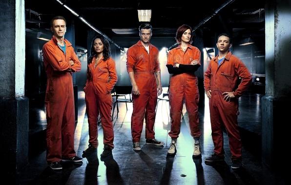 Picture characters, Abbey, Alex, Misfits, the main characters, serial, Alex, 5 season, Finn, Finn, Jess, Jess, …