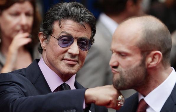 Picture actor, male, Jason Statham, jason statham, Sylvester Stallone, sylvester stallone