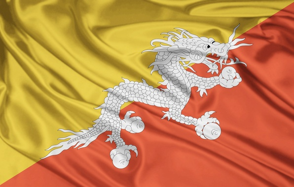 Picture orange, yellow, background, Wallpaper, dragon, color, texture, wallpapers, the Kingdom of Bhutan