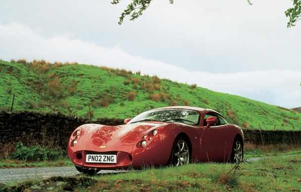 Picture red, Supercar, TVR T440