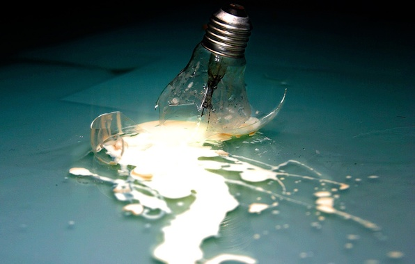 Picture energy, glass, light bulb, the wreckage