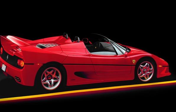 Picture spider, red, supercar, Ferrari F50