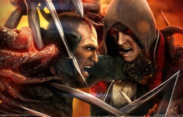 Picture look, anger, blood, blade, battle, blow, hatred, pain, Creek, Mutants, wound, enemies, Prototype 2, James …