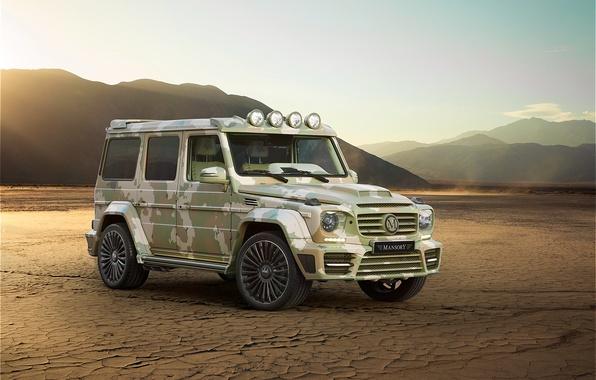Picture Mercedes-Benz, Mercedes, AMG, Gaelic, g, Mansory, W463, 2015, G 63, Sahara Edition