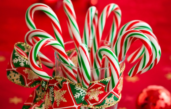 Picture winter, New Year, Christmas, candy, sweets, lollipops, Christmas, holidays, New Year, striped, Christmas