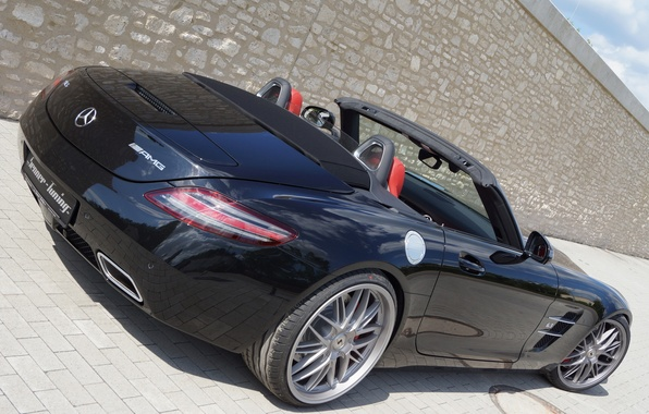 Picture machine, Roadster, Mercedes-Benz, Mercedes, AMG, SLS, back, Senner Tuning