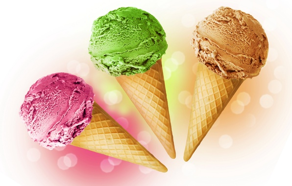 Picture food, ice cream, horn, dessert, sweet, wafer