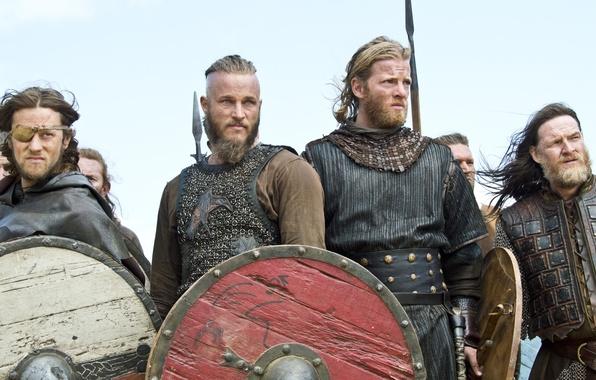 Picture the series, warriors, shields, Vikings, The Vikings, Travis Fimmel, Travis Fimmel