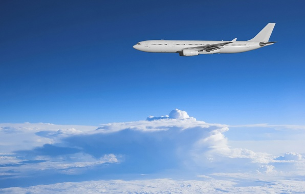Picture the sky, freedom, clouds, aviation, landscapes, morning, the plane, sky, spaces, clouds, airplanes