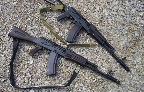 Picture gravel, Kalash, 2 pieces, AK-74, Kalashnikovs