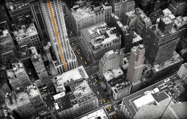 Picture machine, city, building, height, home, The city, cars, street, new york, houses, 2560x1600, streets, buildings, …