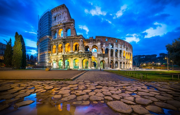 Picture Italy, Rome, ruins, Coliseum