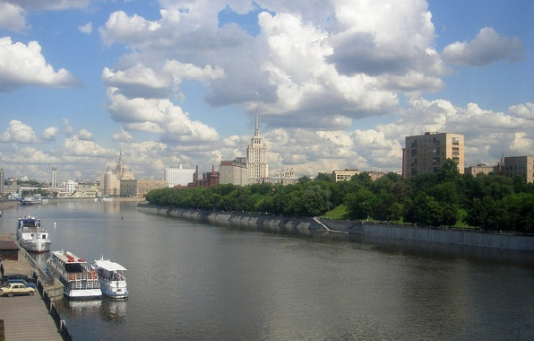 Picture River, Moscow, Skyscrapers