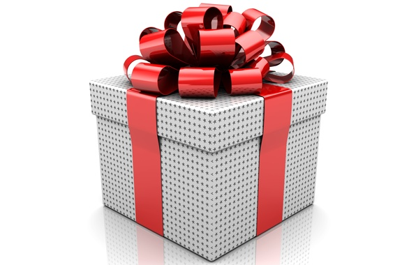 Picture holiday, box, gift, tape, bow, surprise