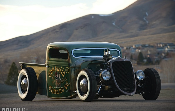 Picture Ford, Pickup, 1935, Rat Rod