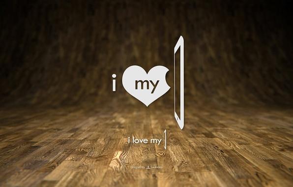 Picture tree, heart, Love, flooring, ipad, minimalism.