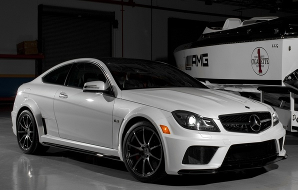 Picture car, machine, Wallpaper, tuning, garage, boat, white, white, mercedes, car, black, Mercedes, auto, benz, tuning, …