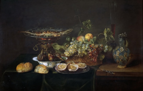 Picture pitcher, fruit, still life, painting, Art, the Golden age