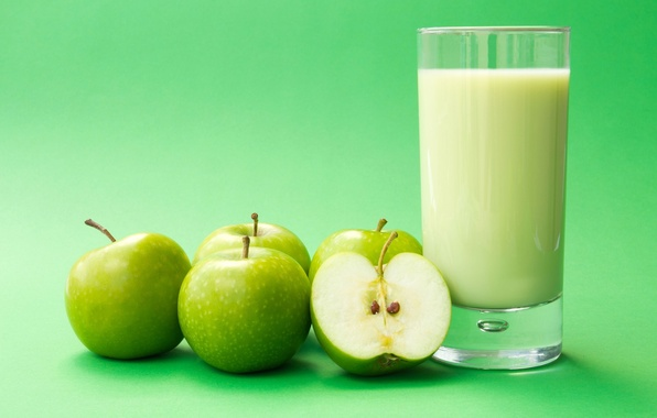 Picture background, Wallpaper, apples, apple, Apple, food, milk, green, wallpaper, widescreen, background, full screen, HD wallpapers, …