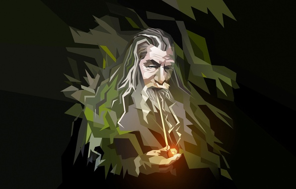 Picture abstraction, tube, art, The Lord of the rings, the old man, The Lord of the …