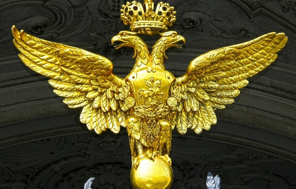 Picture Saint Petersburg, Russia, The winter Palace, Double-headed eagle