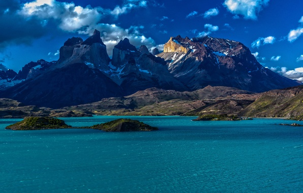 Picture the sky, water, Islands, snow, mountains, Nature, Chile, Chile, Patagonia, Patagonia, cloud.